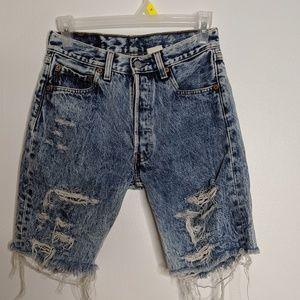 Vintage Levis 501 High Rise Cut Off Jean Shorts
